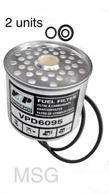 2 x International tractor fuel filters 275 276 354 374 384 414 434 444