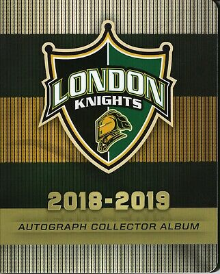 2018-19 London Knights {OHL} Autographed Team cards -- You pick from list!