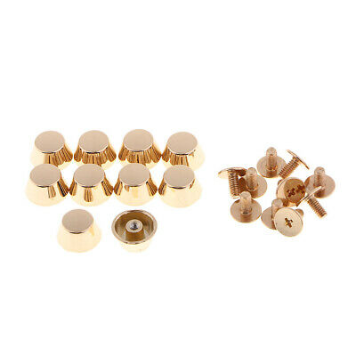 10pcs Purse Handbag Feet Nailhead Flat Head Stud Screw-Back Metal Stud Rivet