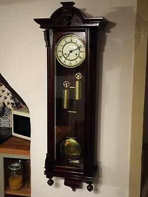 Kieninger Twin Weight Vienna Regulator Wall Clock