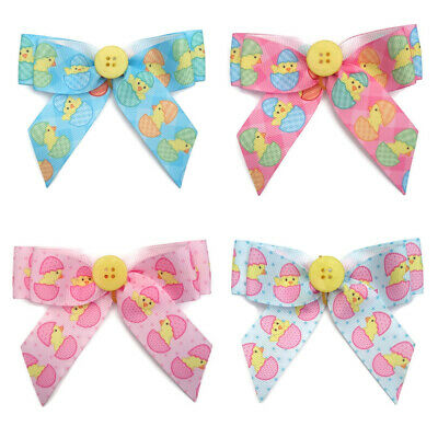 4 LARGE EASTER DOG COLLAR BOWS costume outfit cute bandanna groomers grooming
