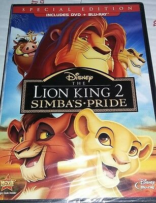 Disney LION KING 2 Simba's Pride - Blu-ray + Dvd 2 Disc Special Edition USA New