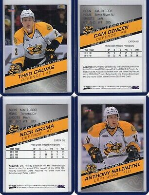 2017/18 Sarnia Sting {OHL} Team Issued cards -- You pick from list!