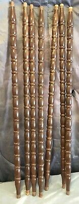 """7 Architectural Salvage Wood Turned Baluster Spindles Furniture Repurpose 27.5"""""""