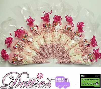 Pre Filled Kids Halal Sweet Cones Party Bags Birthday Mehndi Wedding Favours