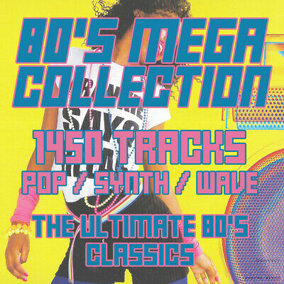 (DVD) 80's Mega Collection - 1450 Tracks - Pop - Synth - Wave - 320 MP3