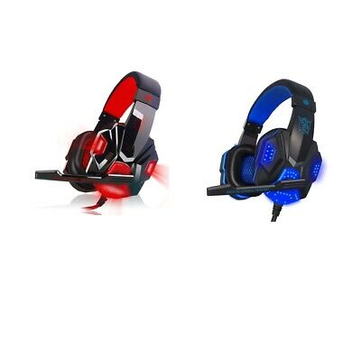 Gaming Headset Stereo Computer Headphones with microphone LED Game (x 2Pack)