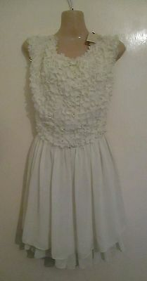 4301f112b8 14 SIZE 4 TED BAKER ivory dress party races holiday summer evening wedding