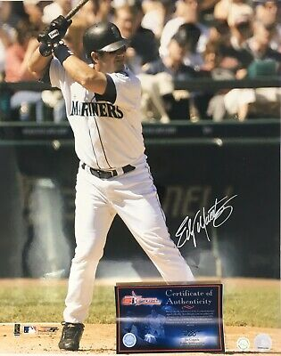5b6b5bb8ae Edgar Martinez Signed SEATTLE MARINERS 16x20 Autographed Photo COA Auto HOF