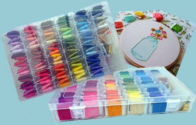 Embroidery Floss with Organizer Storage Box 100 Colours Including Sewing Kit