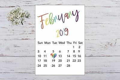 Pregnancy Announcement Calendar Rainbow Baby Due Date Personalised Unisex A4 Siz