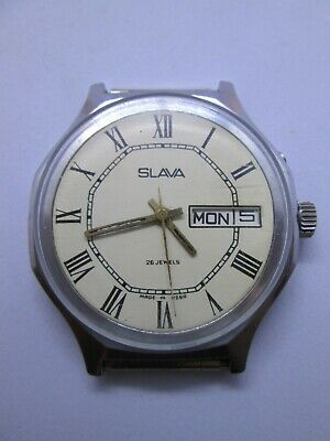 Watch Slava 26 Soviet Jewels Ussr S Russian Mechanical Mens Rare Vintage Old