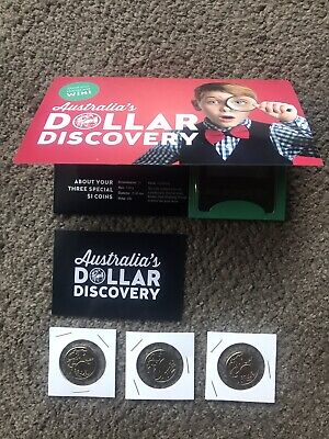 2019 (Red) One Dollar Ram Discovery Folder With 3 Unc Coins Included