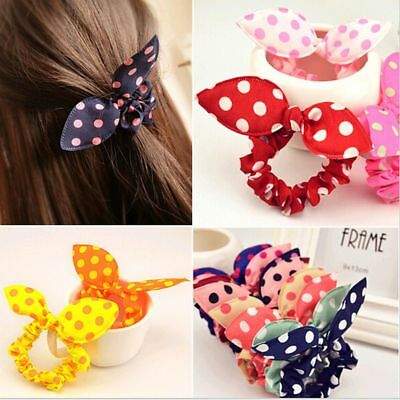 Baby Girl Flower Hair Clip Headbands Rabbit Ears Dot Headwear Elastic Hair Band