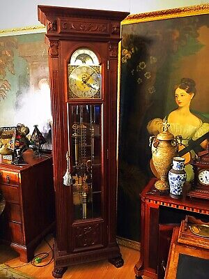 Huge AJK Kieninger Grandfather Floor Clock Westmintster St.Michaels Whittington