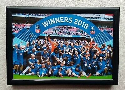 2018 FA Cup Final Winners Chelsea FC Team Photo Picture Framed Birthday Gift Fan