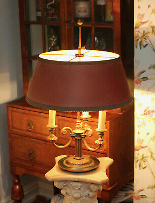 A Large Classical / Empire Manner Country House Bouillotte Lamp