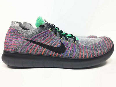2a14918d9c3dc Nike Free RN Flyknit Flexible Running Shoes Multicolor Men s Size 13 831069- 108