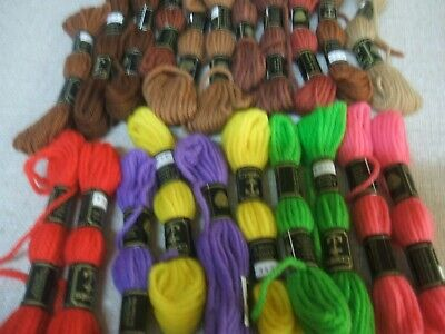 Bulk Selling. 21 Skeins Of Coats Tapestry Wool From Grans Trunk.  With Labels
