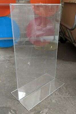 """USED 1 pc Acrylic Sign Holder Bottom Load 11"""" W x 17"""" H LOCAL PICKUP LOS ANGELES"""
