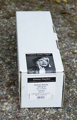 "Hahnemuhle FineArt Baryta 325 gsm - 17"" x 39' 1 - Roll Bright White (NOS)"