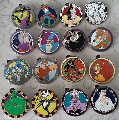 Good vs Evil Mystery Pouch Collectible Disney Trading Pin Make a Set Lot