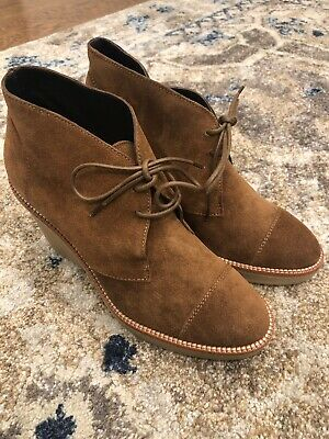 d6417a3beb7 LK BENNETT WOMENS Pellino Suede Ankle Boots Womens Booties Brown Sz ...