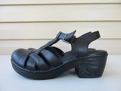 48eed002b82f BORN CONCEPT Women s Maryjane 8 Sandal Clog Black Leather Buckle Shoes New
