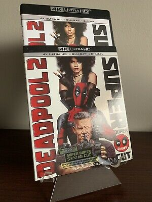 Deadpool 2 Super Duper Cut (4K UHD/Blu-ray, 4 Discs, Slip Cover) Mint Condition