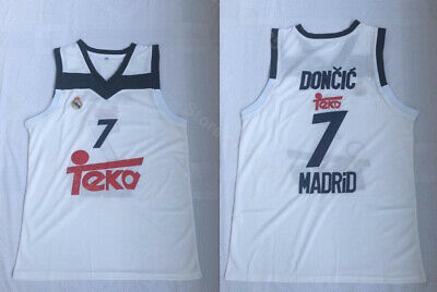 the best attitude 25f69 b6781 LUKA DONCIC REAL Madrid Euro League Basketball Jersey Mens ...