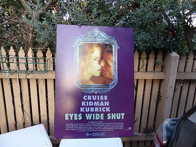 Original Signed by Nicole Kidman Eyes wide shut movie poster on board Tom Cruise