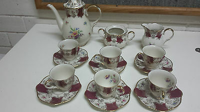 vintage ZEH SCHERZER BAVARIA coffee set  CUP  SAUCER germany antique