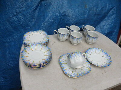 vintage 6 trios   cups saucers plates Japan hand painted fine china