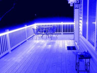Decking Gazebo Shed Conservatory Stair Light Sets With Remote 240v In Blue
