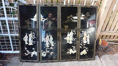 Chinese Asian Mother Of Pearl Wall Pictures Decorations Hangings Panels