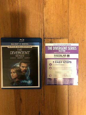 The Divergent Series Collection (1+2+3)- Digital Hd- Ultraviolet- Fast Shipping
