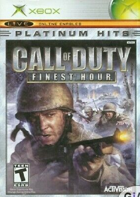 Call of Duty Finest Hour Platinum Hits Xbox Game Case TESTED FREE FAST SHIP