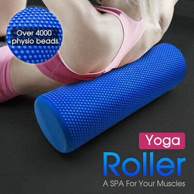45x15cm EVA PHYSIO FOAM AB ROLLER YOGA PILATES EXERCISE BACK HOME GYM MASSAGE