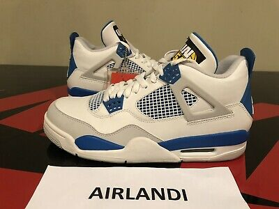 d52cdf3c78d7df Nike Air Jordan 4 Retro Quai 54 Friends   Family Size 9 Military Blue  308497105A