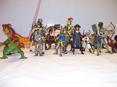 Schleich and Papo Knights and Dragon lot
