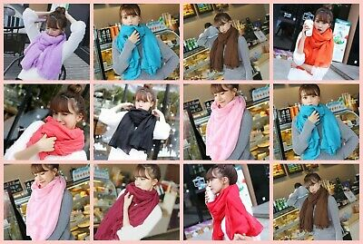 US SELLER- 10 plain fashion casual light weight shawls wraps scarves for sale