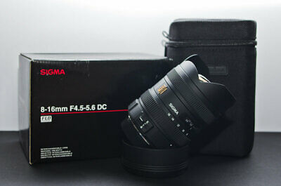 Sigma 8-16mm F/4.5-5.6 DC HSM Ultra-Wide Zoom Lens Canon EF Mount PX