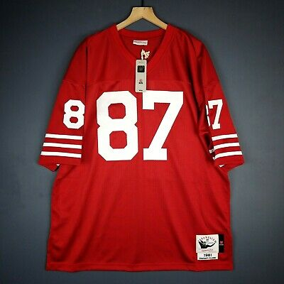 100% Authentic Dwight Clark Mitchell   Ness 81 49ers NFL Jersey Size 52 2XL  Mens bf791d10d