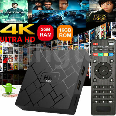 HK1MINI 2GB+16GB Android 8.1.0 RK3229 Quad Core Smart TV BOX WIFI HDMI 4K Media