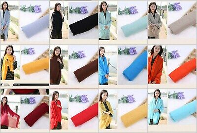 US SELLER, 10 scarves plain fashion casual light weight shawls Soft Scarf Wrap