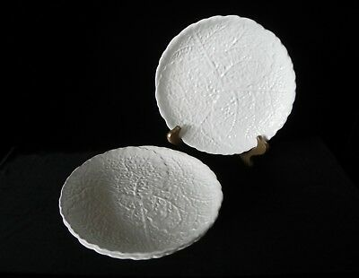 "Erphila ART POTTERY WHITE LUNCH PLATES 8"" Set of 3 GERMANY"