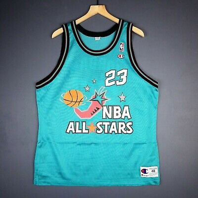 092219f15fdf 100% Authentic Michael Jordan Vintage Champion 1996 All Star Jersey Size 48  L XL