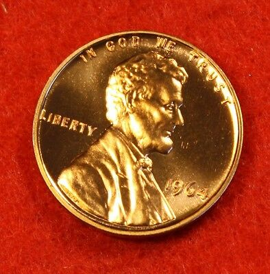 1964-Proof Lincoln Memorial Cent Penny Red Bu Collector Gift