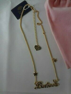 Disney Couture Believe Necklace New  (Dyn398)