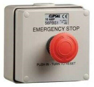 Clipsal EMERGENCY STOP PUSH BUTTON CONTROL STATION 250V 10AIP66 1-Position Grey